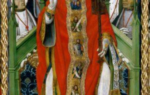 Sant Pere, protagonista del retaule de Púbol, de Bernat Martorell.