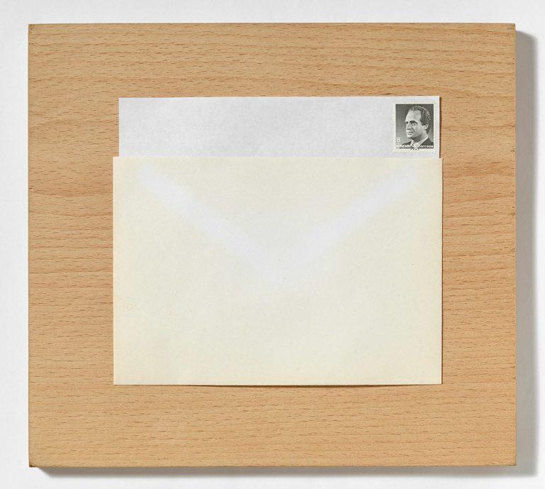 Joan Brossa. 'Sobre el sobre 1988'. Poema-objecte. Galeria Joan Prats