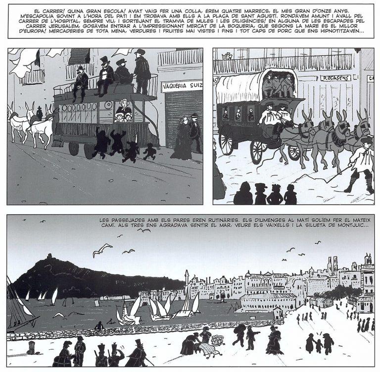 Una de les pàgines del llibre de Juste de Nin