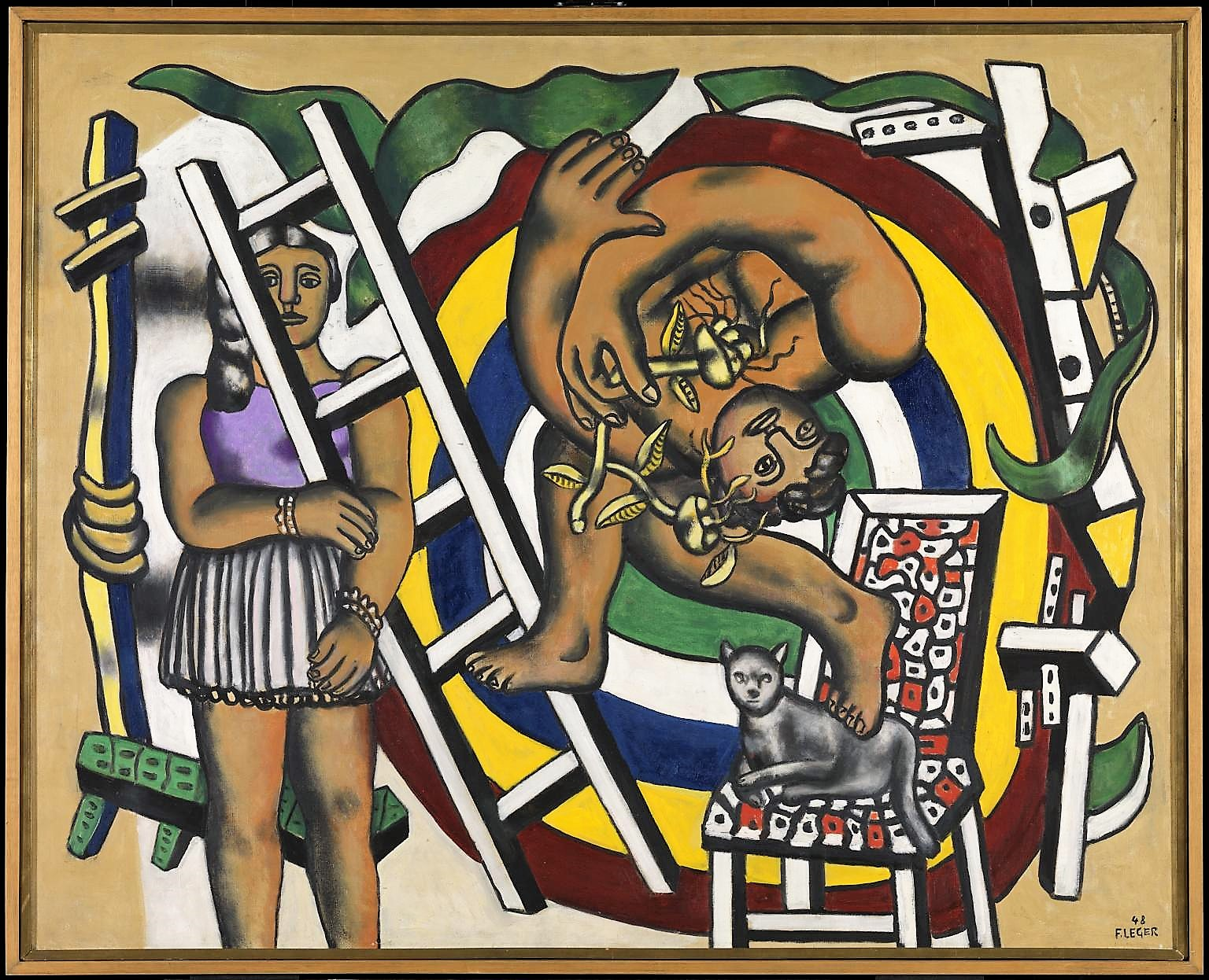 """The acrobat and his partner"" (1948). Fernand Léger"