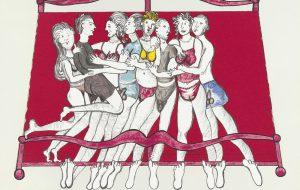 Louise Bourgeois, Eight in bed, 2000, litografía, 52 x 60 cm, ed. de 40
