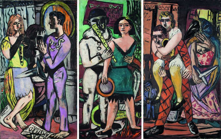 Max Beckmann.Carnaval, 1943 (Karneval) University of Iowa Museum of Art, Stanley Museum of Art, Iowa. Adquisición, Mark Ranney Memorial Fund.© Mark Ranney Memorial Fund. © Max Beckmann, VEGAP, Barcelona, 2019.