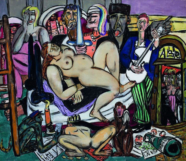 Max Beckmann. Ciutat (Nit a la ciutat), 1950 (The Town [City Night]) Saint Louis Art Museum, San Luis. Llegat de Morton D. May. © 2018 Artists Rights Society (ARS), New York/VG Bild-Kunst, Bonn © Max Beckmann, VEGAP, Barcelona, 2019.