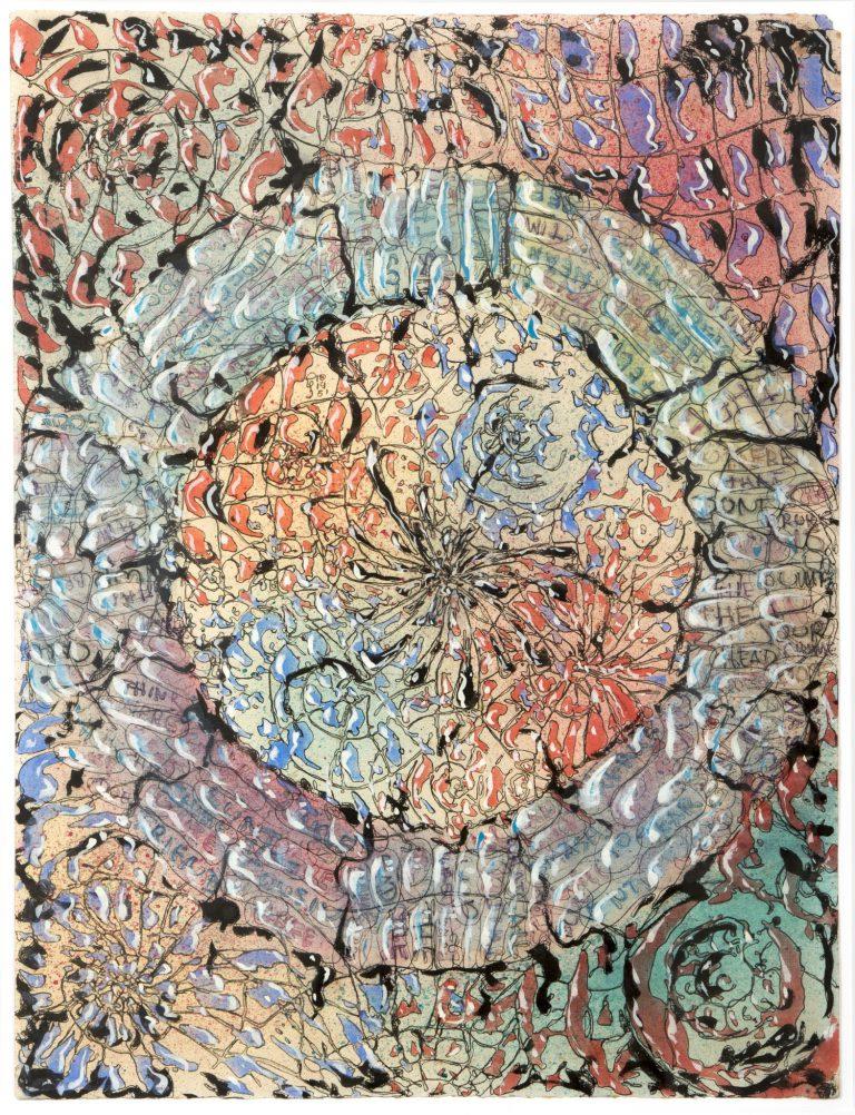Harry Smith   Sense títol, 19 octubre 1951   Tinta, aquarel·la i tempera sobre paper   86,36 x 69,85 cm   Col·lecció Raymond Foye, New York