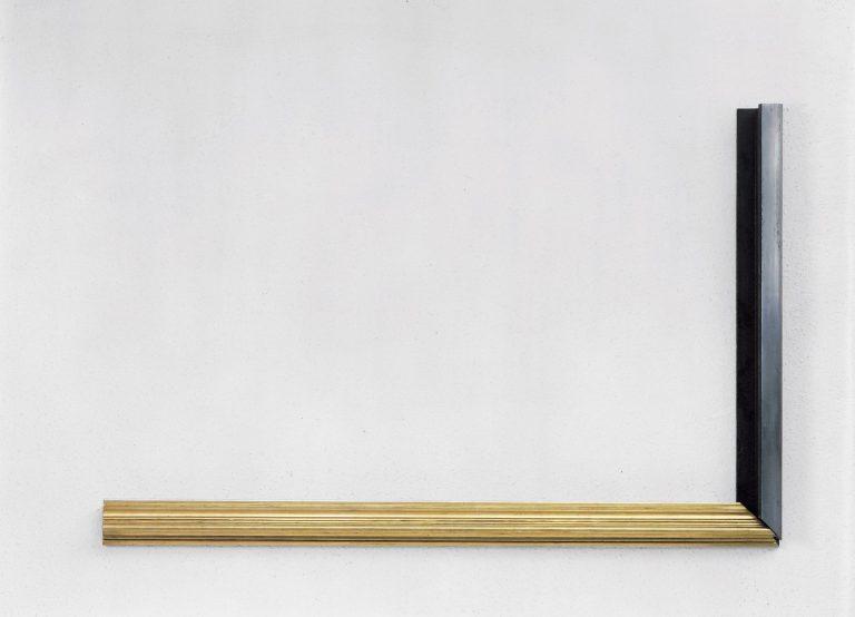 """Perejaume, 'El lloc i la data'. 1991. Raïl i motllura. Col·lecció """"la Caixa"""" d'Art Contemporani"""