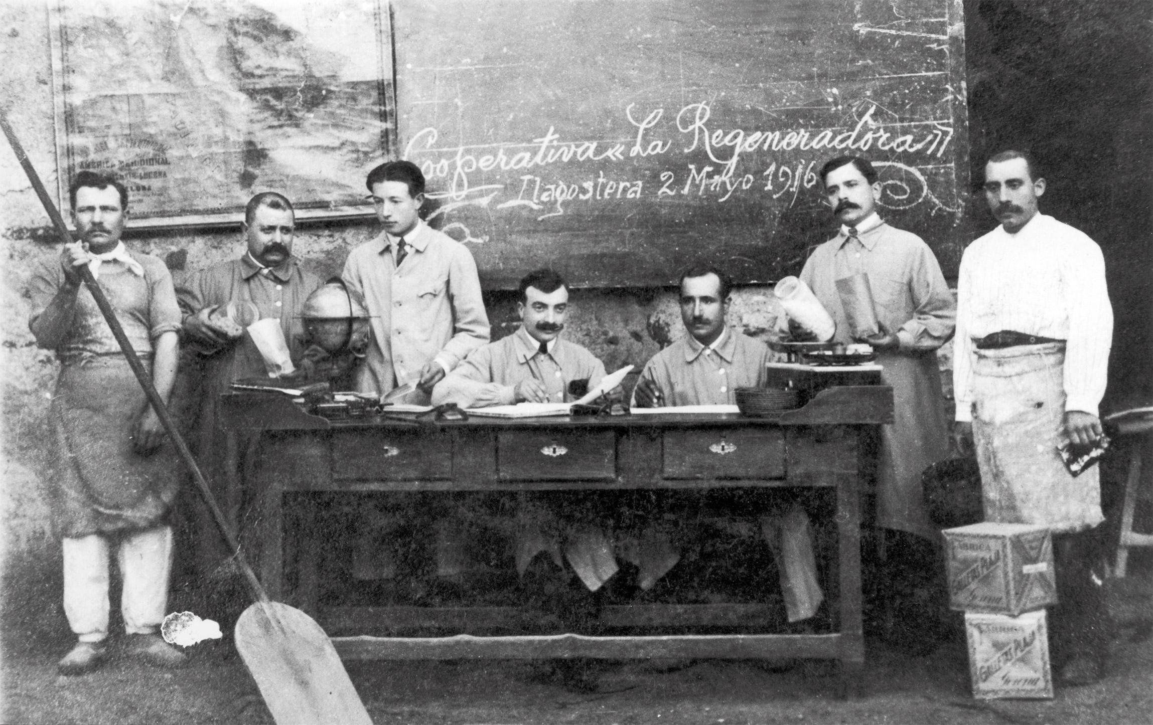 Personal de la cooperativa 'La Regeneradora' de Llagostera              | Imatge d'arxiu, Museu d'Història de Catalunya