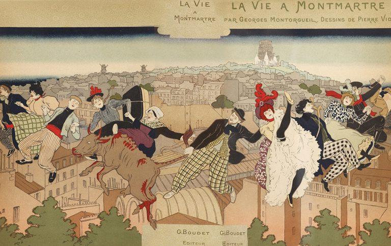 Pierre Marie Louis Vidal, coberta de 'La Vie à Montmartre', 1897 | Col·lecció particular