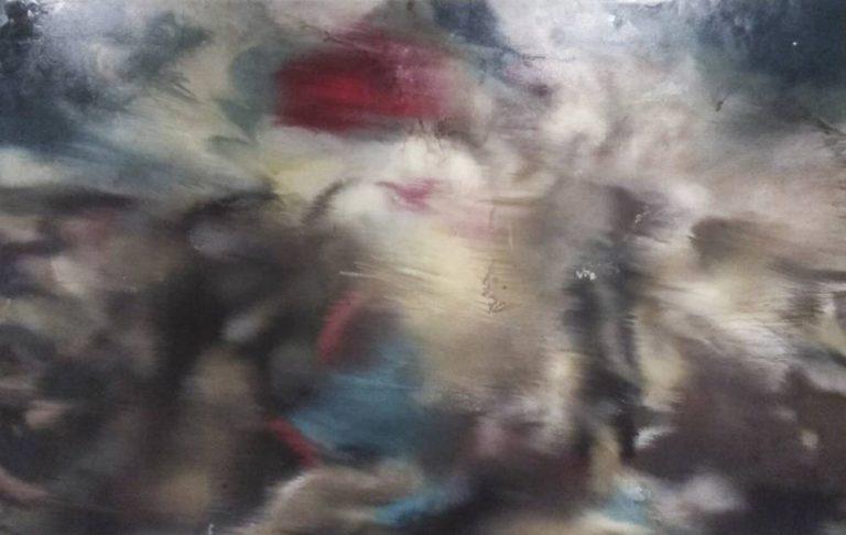 """Variació de """"La llibertat guiant el poble"""" de Delacroix III/III, 2009, oli damunt tela, 260X325cm"""