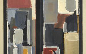 Ràfols Casamada. 'Finestra' (Guaix sobre paper - c.1956) Col·lecció Família Benet              | Ràfols Casamada