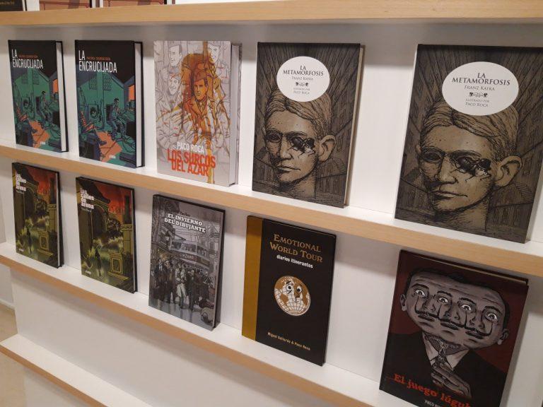 Les obres de Roca, en la zona de lectura.
