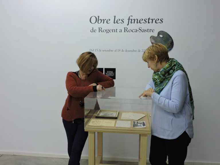 Exposició Rogent a la Fundació Vila Casas, amb Susanna Portell.