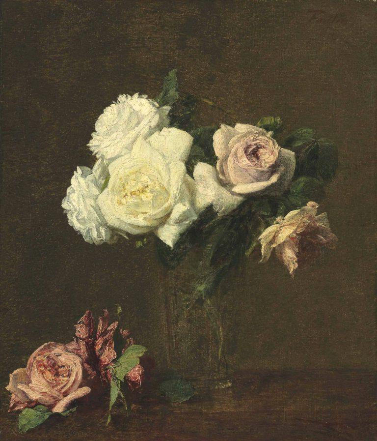 'Roses', de Henri Fantin-Latour