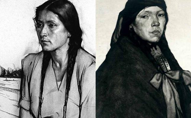 Retrats de Ramon Subirats i Urbici Soler. El retorn de dos rodamons, al Museu Etnològic.