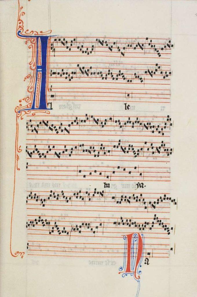3-La notació de Notre-Dame ritme expressat mitjançant agrupacions de notes