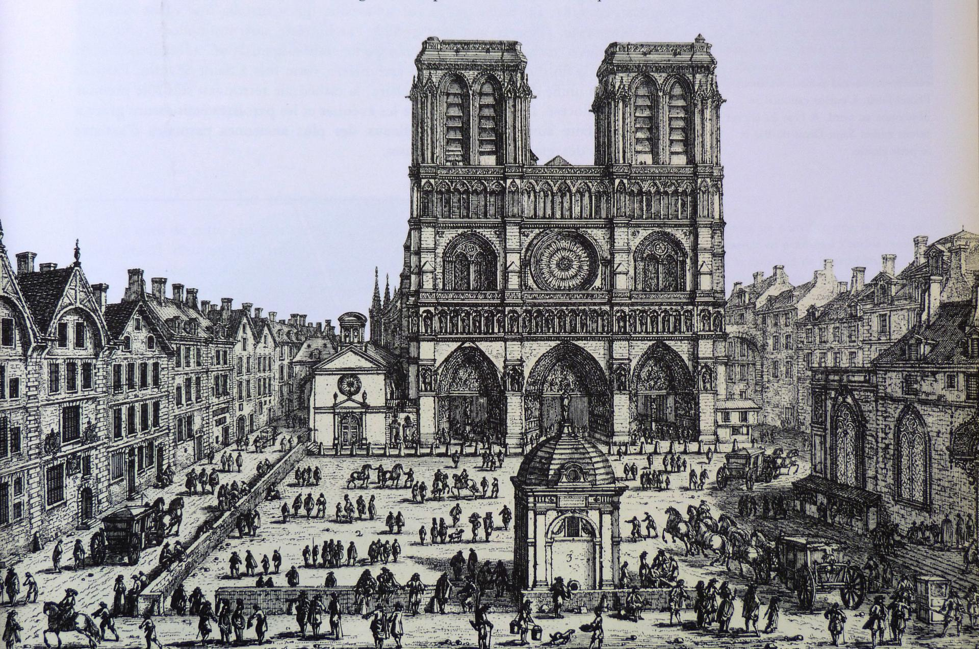 Façana occidental de Notre-Dame (aixecada les primeres dècades del segle XIII)