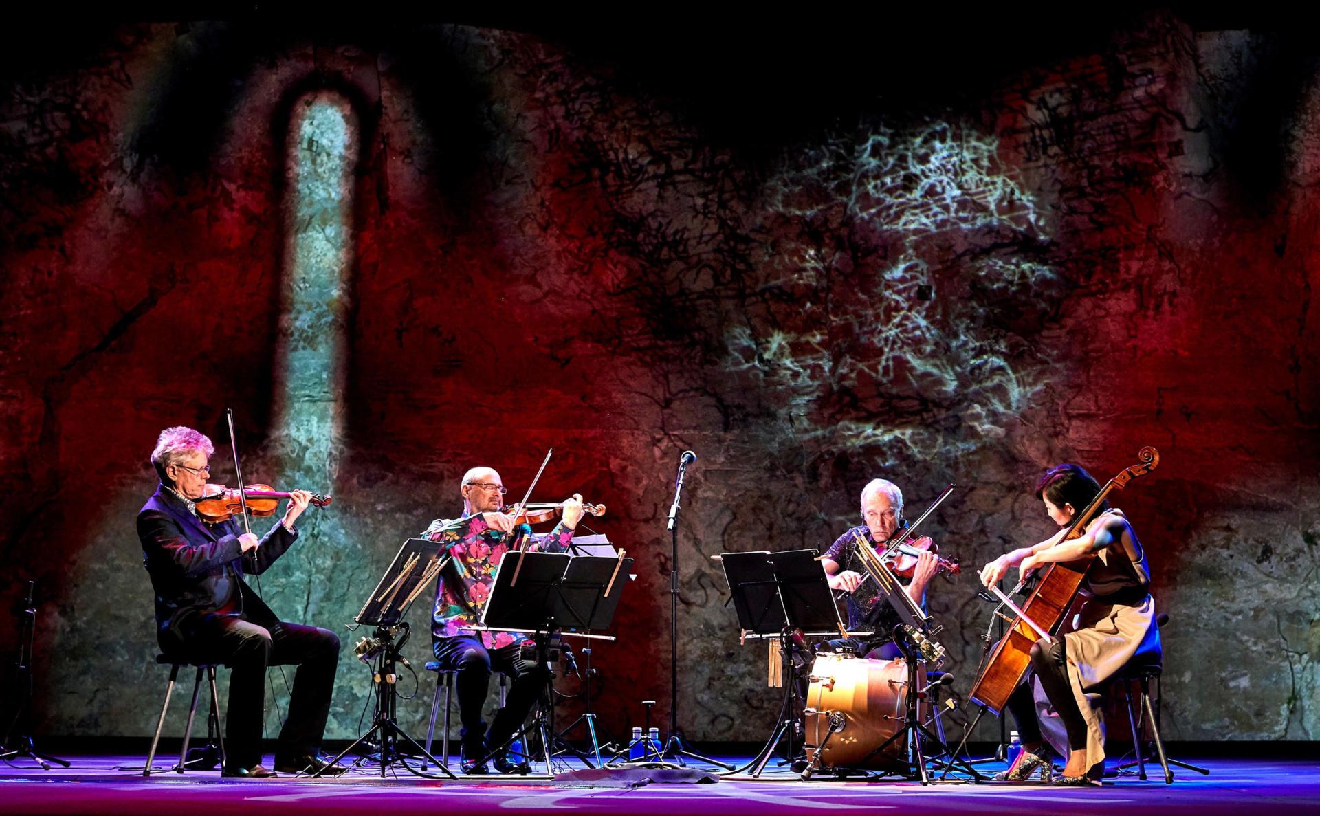 Moment de l'actuació de Kronos Quartet en la inauguració del Grec 2019, celebrat al Teatre Grec de Montjuïc, A Barcelona. Foto: EFE/Alejandro García