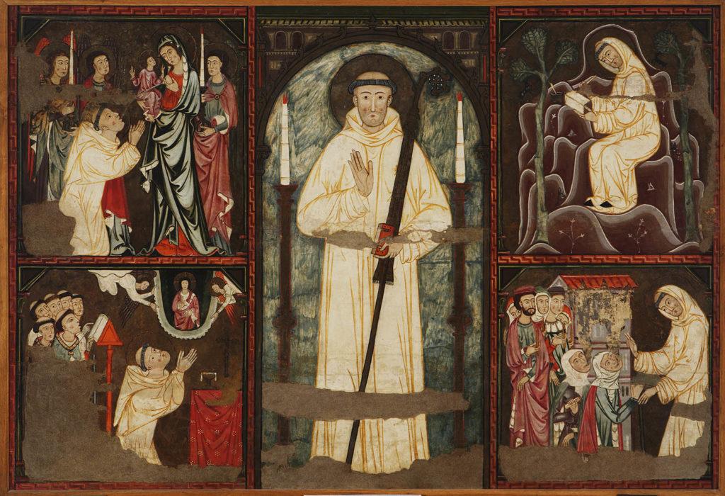 Sant Bernat i detalls Museu Palma Moble medieval