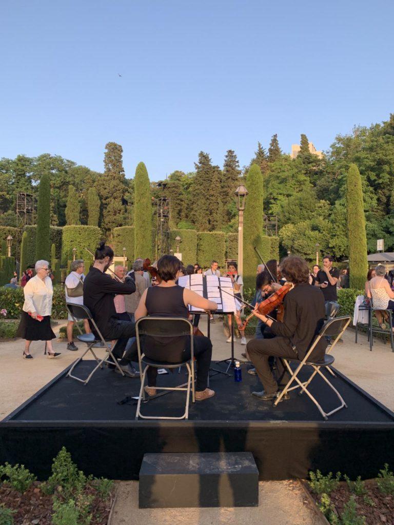 Actuació d'alumnes de l'EsMUC previs al concert de Kronos Quartet al Grec. Foto: Esteve Plantada