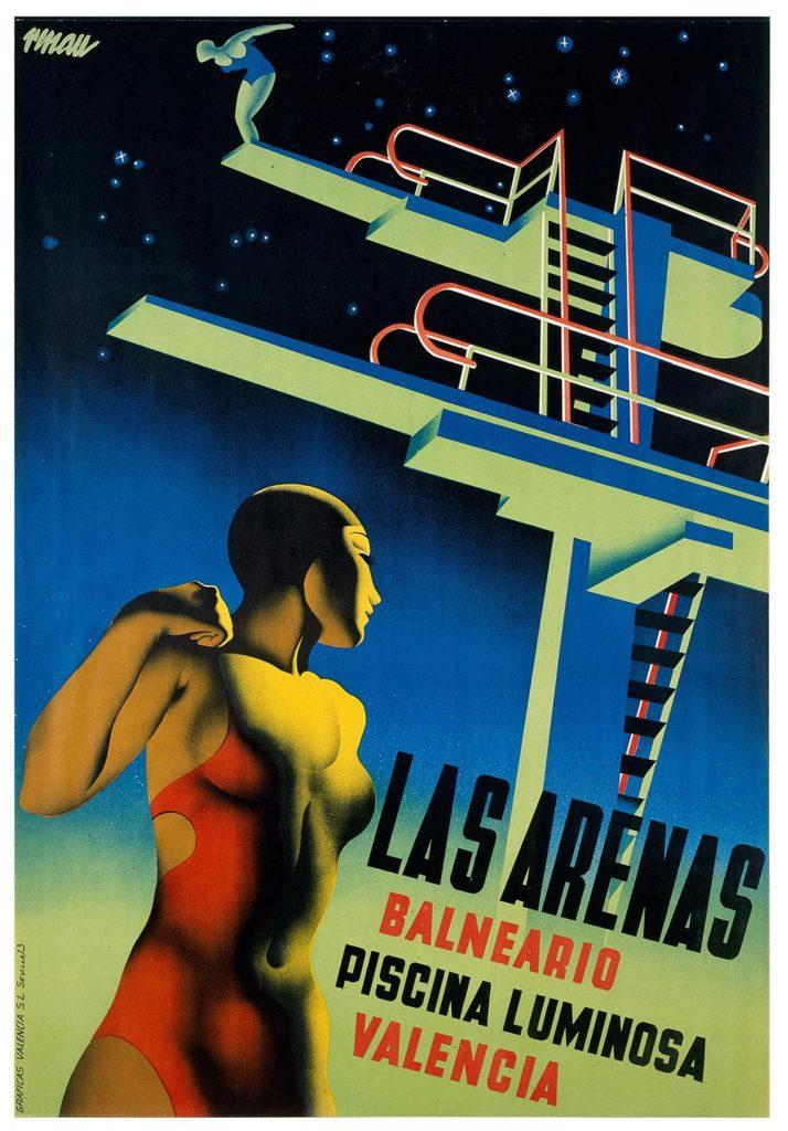 Josep Renau, Las Arenas, 1932. Litografia © IVAM, Institut Valencià d'Art Modern, Generalitat