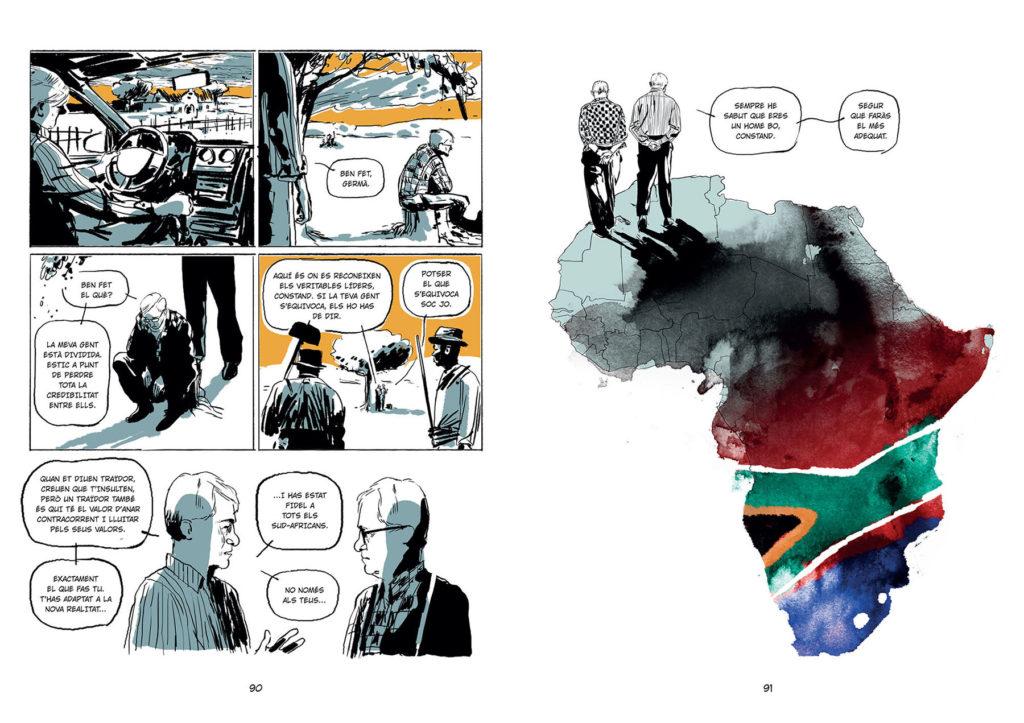 """Una imatge de """"Mandela i el general"""", de Carlin i Malet. Foto: Comanegra"""