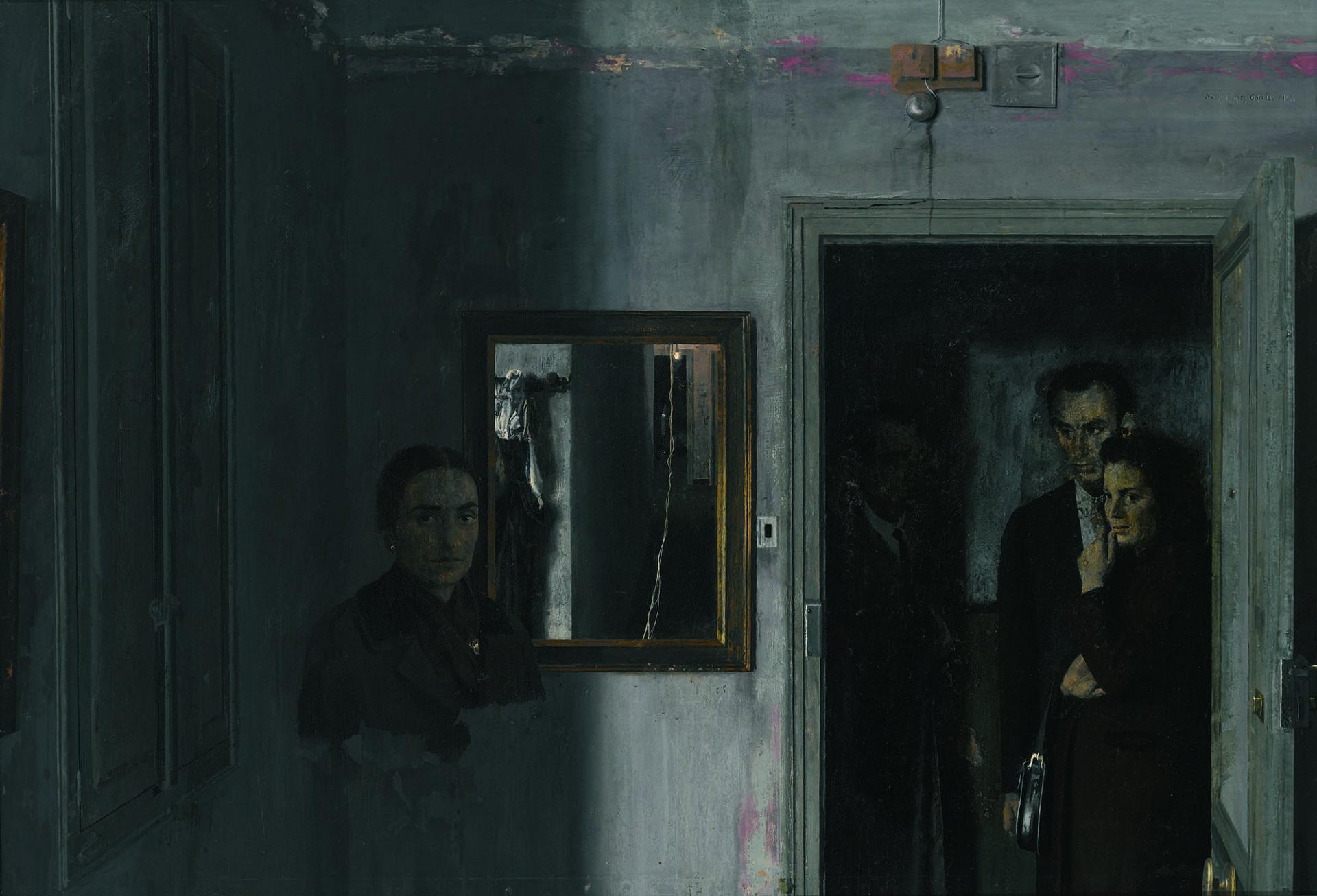 Antonio López, 'Figures in a house'