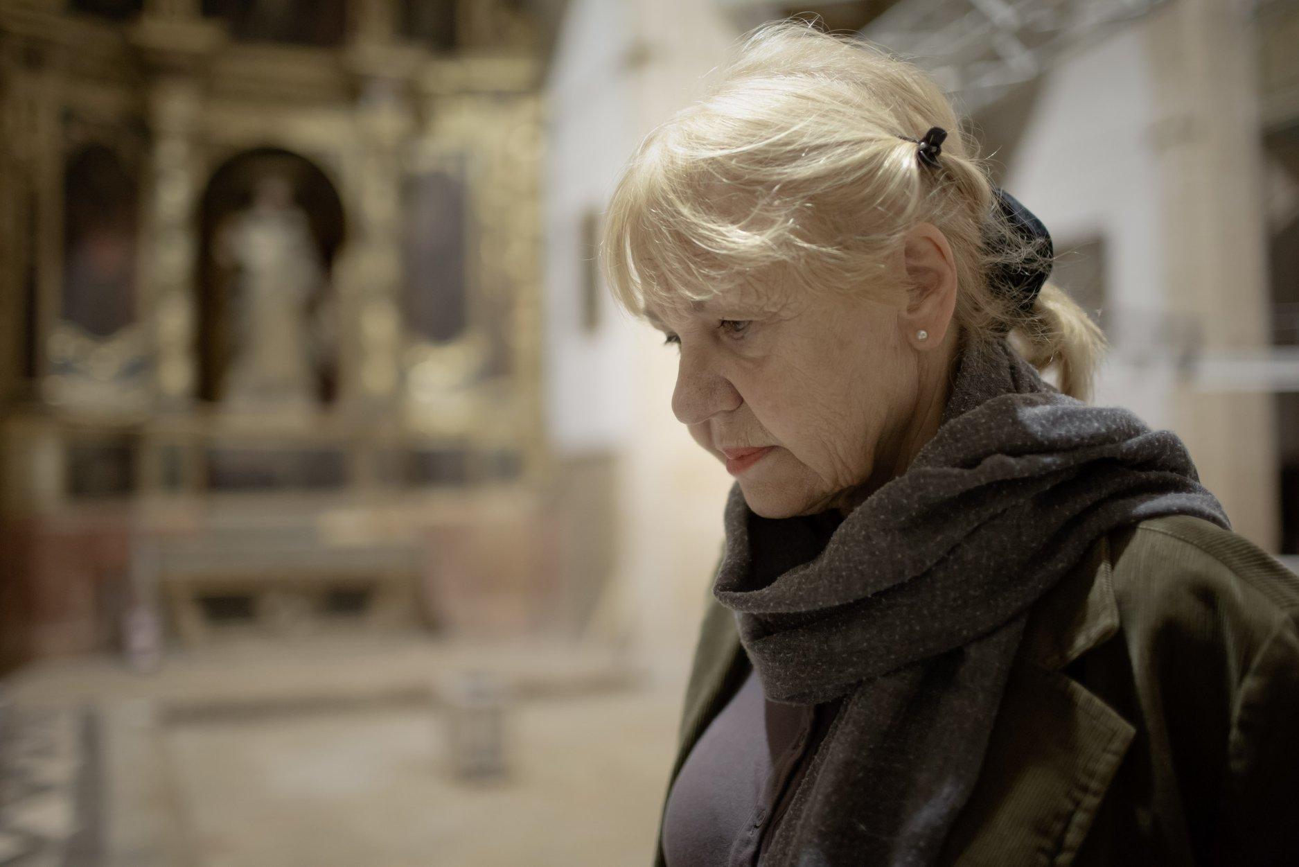 Eva Lootz, a l'Església del Convent de Sant Domingo