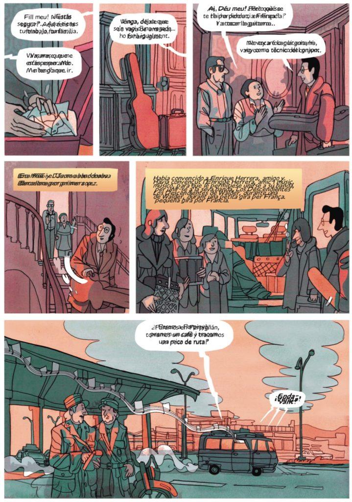 Una de les pàgines del còmic inspirat en Jaume Sisa. Foto: Norma