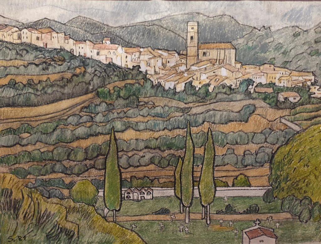 El poble i el cementiri