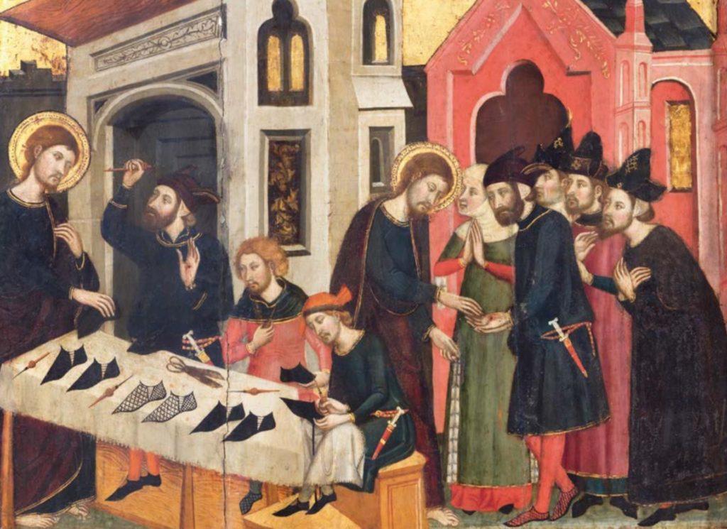 Retaule de sant Marc, encarregat per la confraria dels Sabaters a Arnau Bassa, per a la catedral de Barcelona. Actualment, a Santa Maria de Manresa. 1346
