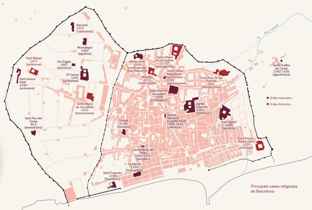 Principals cases religioses de Barcelona