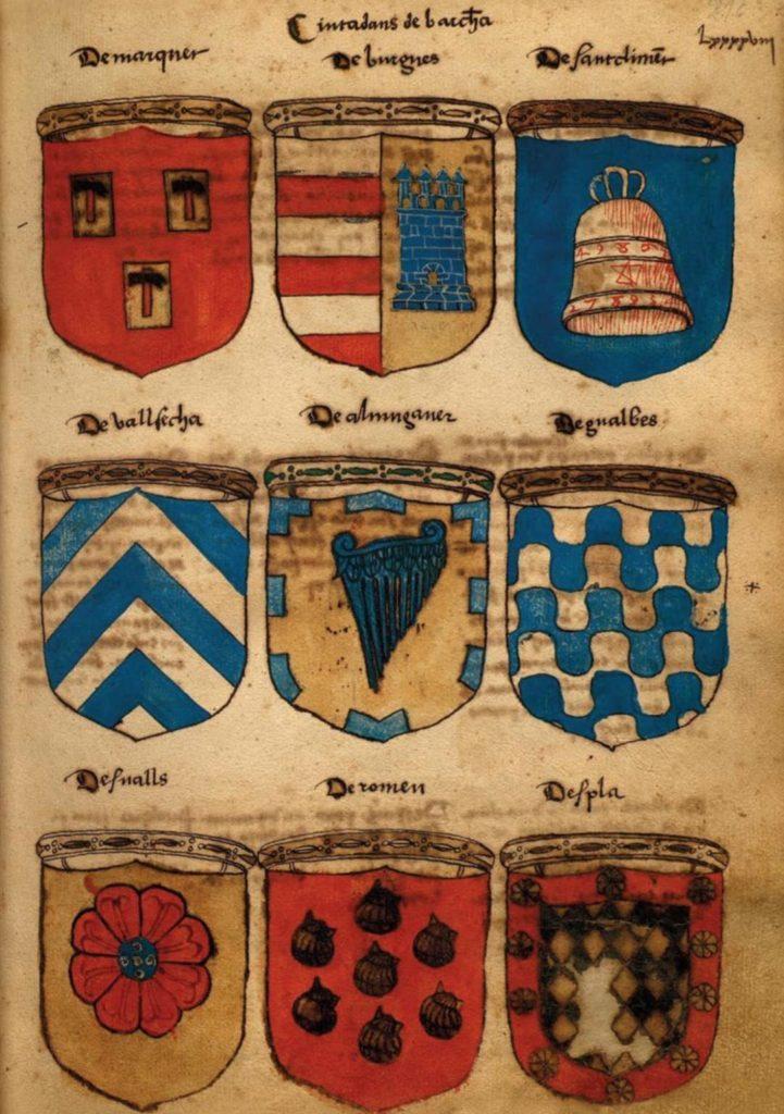 Armorial català. Bernat de Llupià. 1480-1530. BC