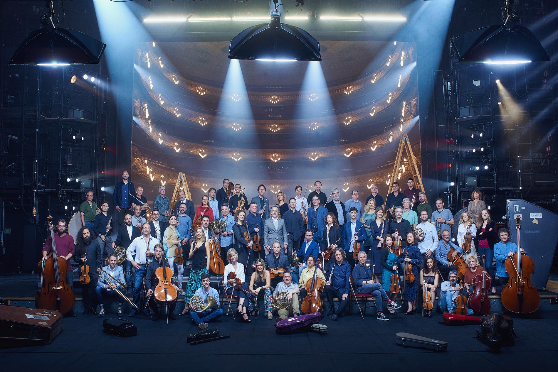 Orquestra Simfònica del Gran teatre del Liceu. Foto: Liceu