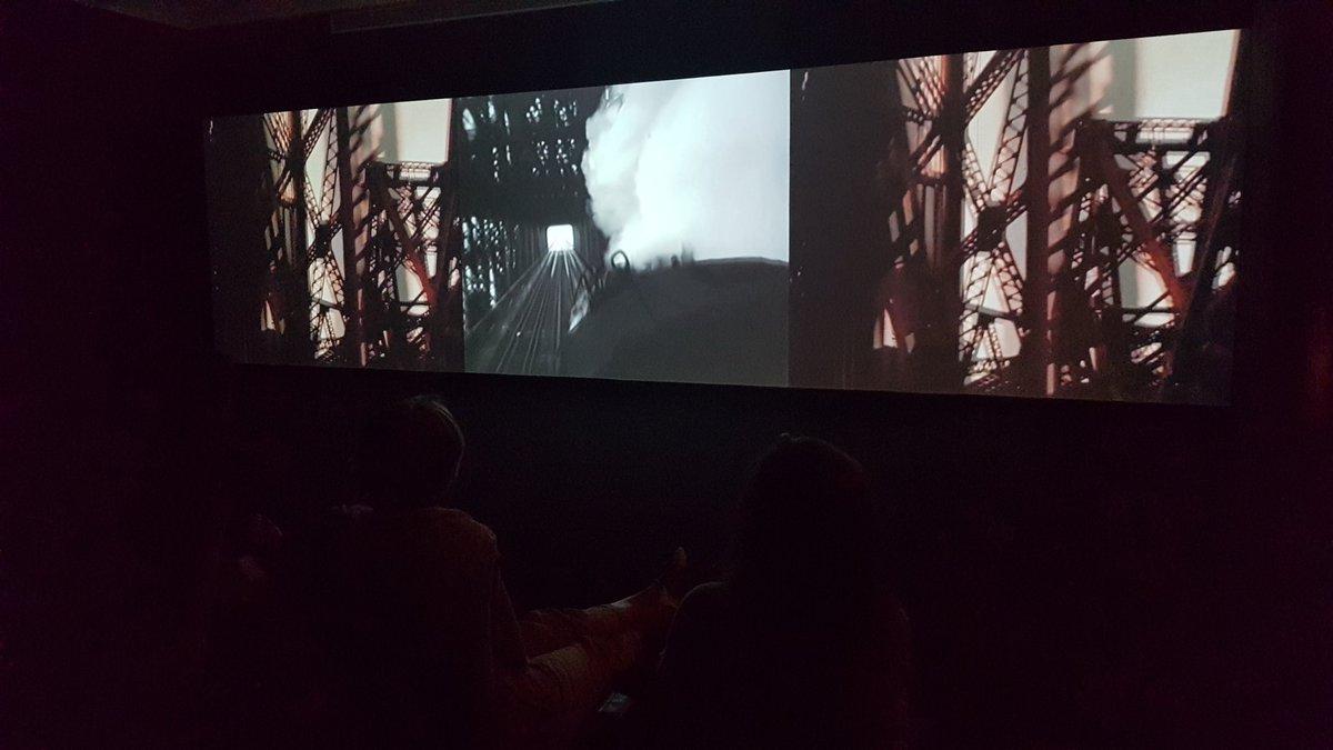 Una imatge de l'exposició 'Different trains', a la Fundació Joan Miró. Foto: Fundació Joan Miró
