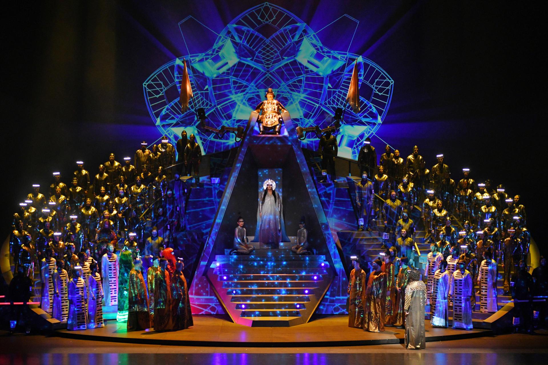 L'impactant escenari de 'Turandot'. Foto: A. Bofill