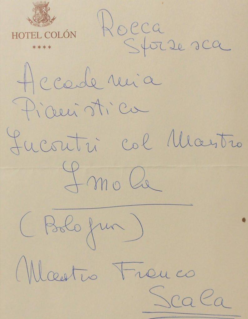 Adreça de l'Accademia Pianistica d'Itàlia