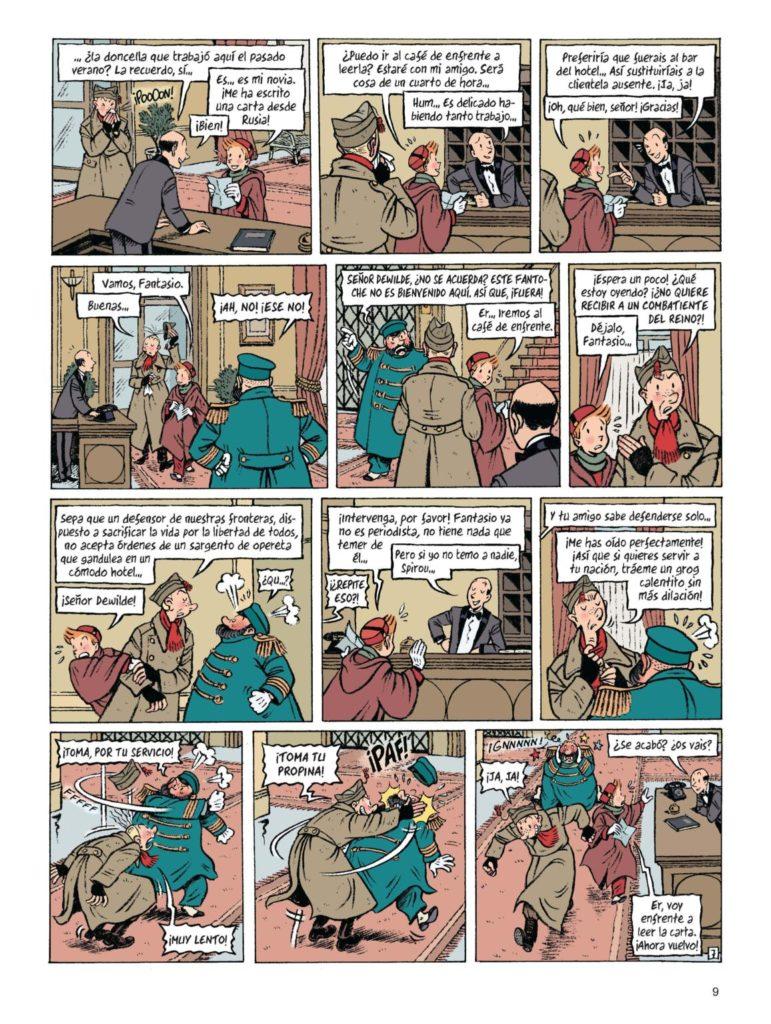 Pàgina del nou còmic d'Spirou
