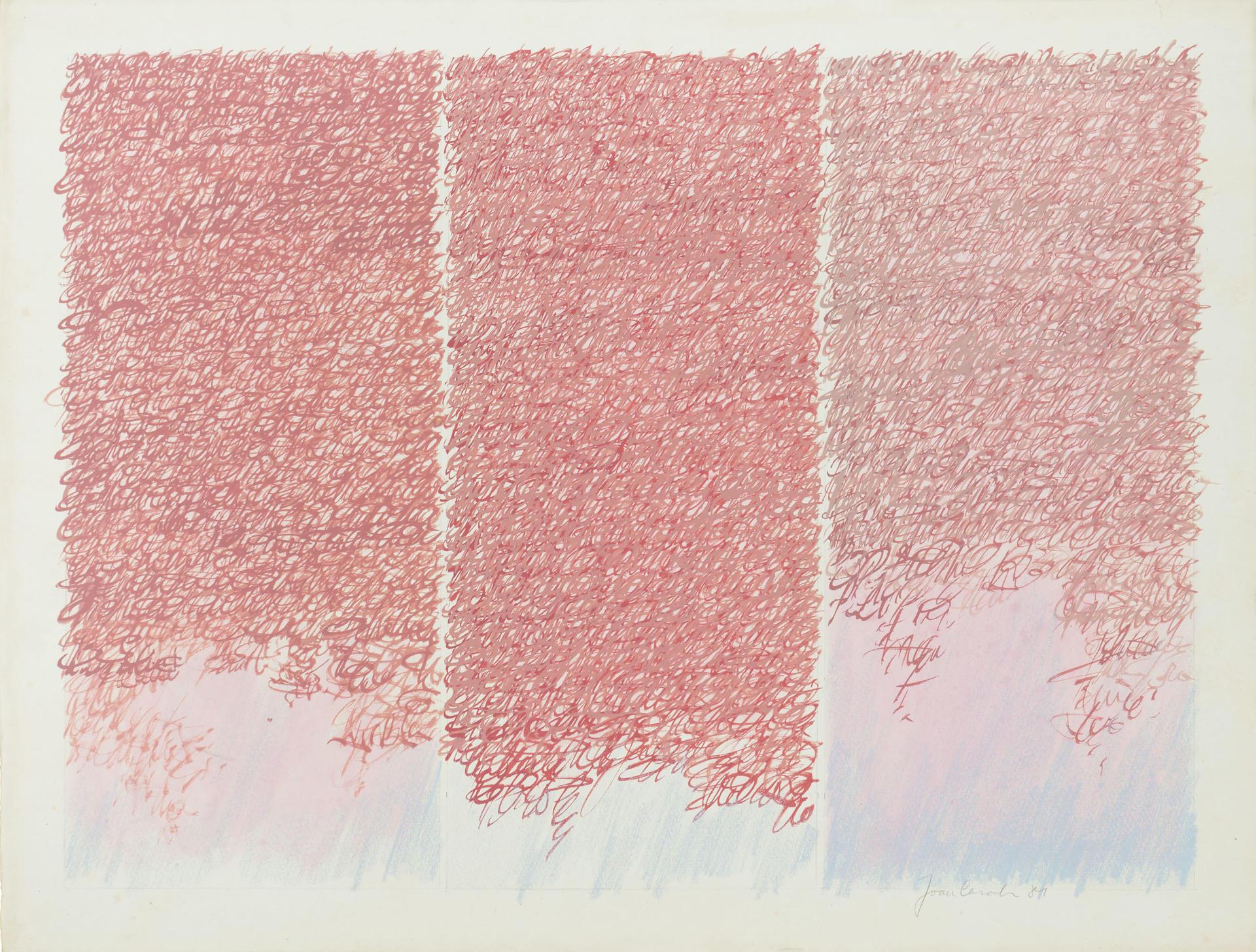 Serie Caligrafia, Tècnica mixta sobre paper1981-82