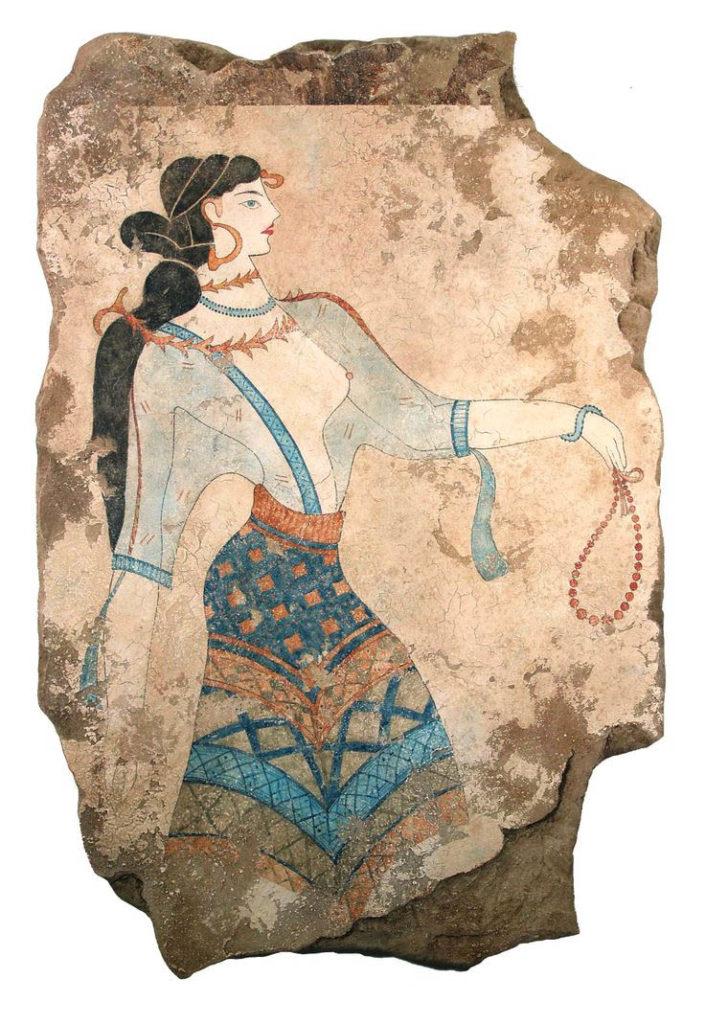 Akrotiri. Dona de blau