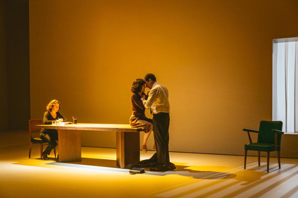 Nora Navas, Marta Ossó i Fèlix Pons durant l'espectacle.