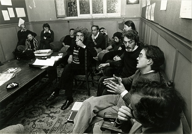 Institut del Teatre, 1974. amb A. Chic, A. Lahuerta. J. Martinez Ribot, A. Madigan, F. Nel·lo, I. Pericot, J. A. Vallvé, C. Colom, J. M. Arrizabalaga, Fabià Puigserver, G-J. Graells i J. Melendres