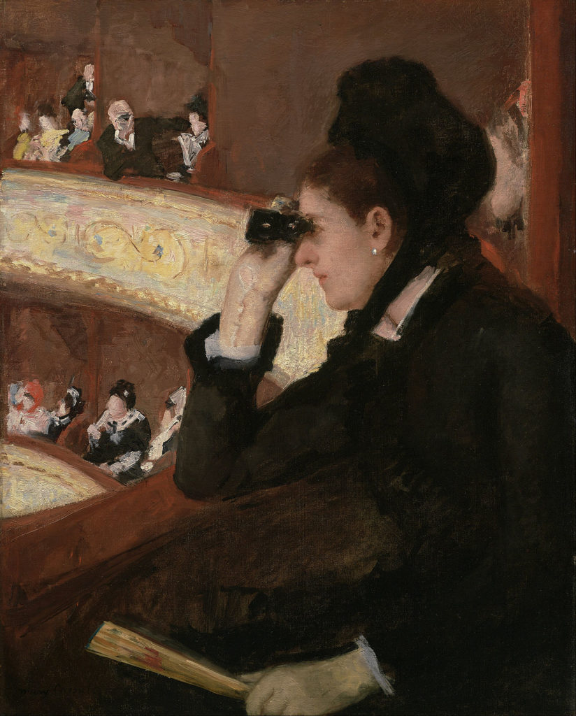 Mary Stevenson Cassatt: In the Loge, 1880