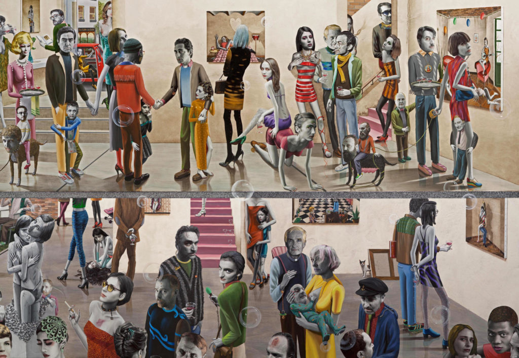 Detall de l'obra de Gino Rubert: The opening, 2017.