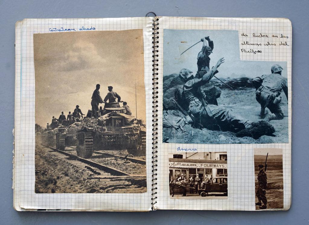 Quaderns bèl·lics dels anys 1965 i 1966 de Joan Fontcuberta.