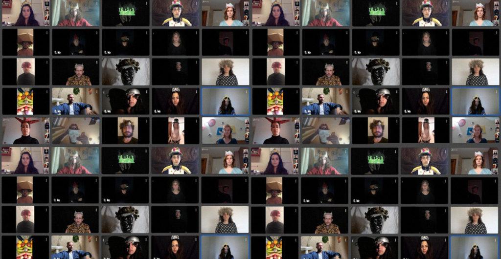 La Fura dels Baus ha fet aquests dies 'La maldición de la corona', en directe via Twitch. Foto: La Fura dels Baus