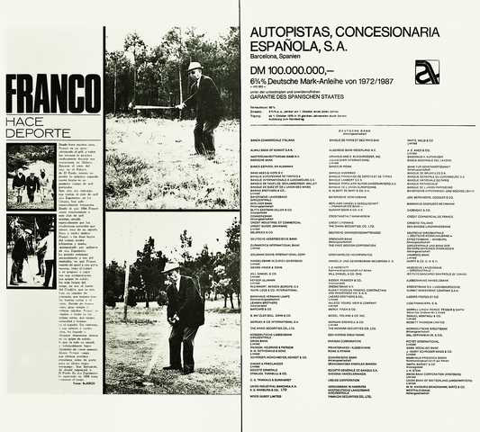 "Joan Rabascall, ""Franco hace deporte"", de la sèrie ""Spain is different"", 1975."
