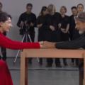 """Marina Abramović i Ulay durant la perfomance """"The artist is present""""- MoMa (2010). Via Metalocus."""