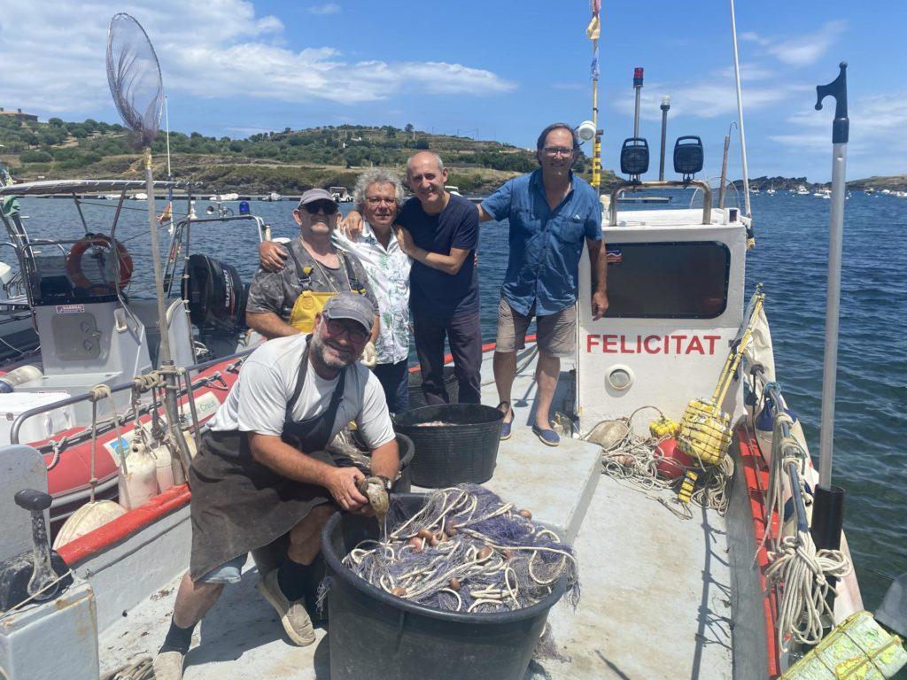 Els darrers pescadors artesanals de Portlligat amb Paco Pérez i Pere Vehí.