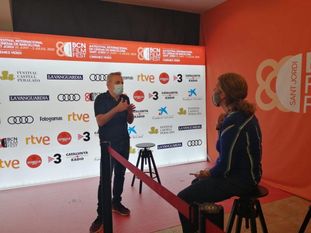 """David Ilundain, director de """"Uno para todos"""", pel.lícula que inaugura el festival, ahir a la roda de premsa."""