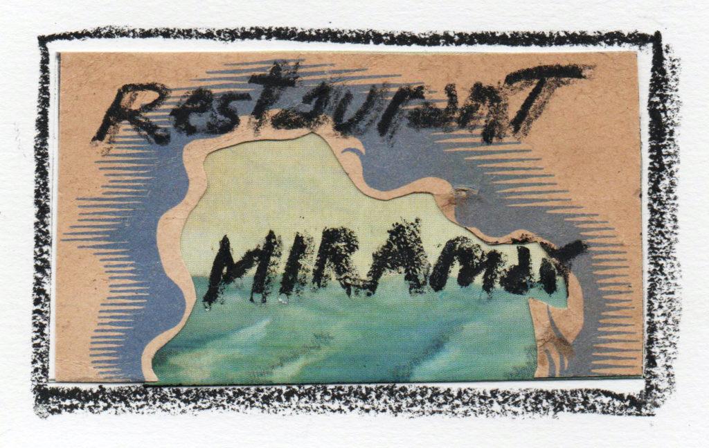 Etiqueta de l'artista Carlos Pazos per al cuvée Miramar - 75 è. aniversari.
