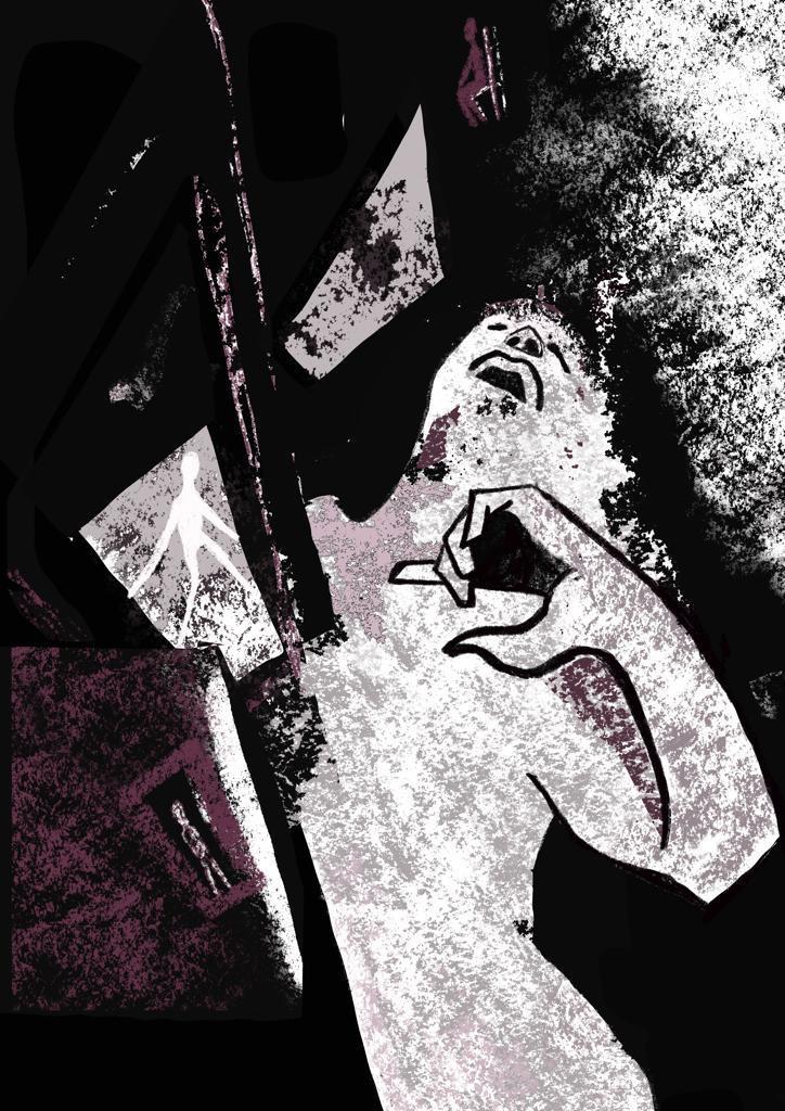 """""""Lettre d'Amour"""" és el títol d'un dels poemaris de César Moro. Il·lustració: ©Nayat Kaid"""